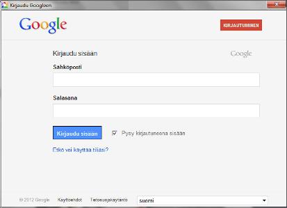 gmail kirjautuminen toinen käyttäjä Uusikaarlepyy
